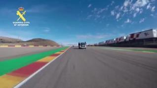 Vuelta de honor de la Guardia Civil al circuito MotorLand Aragón