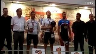 El oscense Míchel Pascual se cuelga un oro y una plata en el Mundial de Ciclismo para Policías