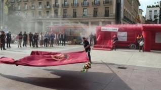 Los más pequeños aprenden qué hacer en caso de incendio con los Bomberos de Zaragoza