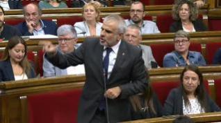 """Carrizosa en el Parlament: """"Nos sentimos amenazados por quienes respaldan el terrorismo"""""""