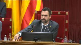 """Gritos de """"libertad"""" para los CDR encarcelados  desde la bancada independentista en el Parlament"""