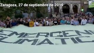 Manifestación frente a la emergencia climática en Zaragoza