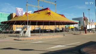 Comienza el montaje del circo de animales en Plaza