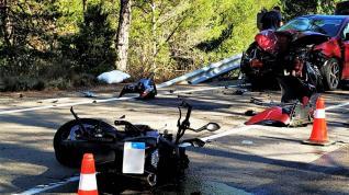 La colisión se ha producido en el km 57 de la carretera A-132