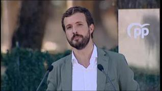 Casado tiende la mano a Sánchez y le pregunta si respetará la sentencia del 'procés'