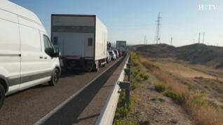 Un fallecido y 7 heridos en un choque entre dos furgonetas en la N-232 en Fuentes