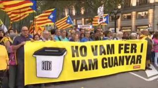 Así se ha vivido el segundo aniversario del 1-O en Cataluña