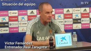 "Víctor Fernández, del Real Zaragoza: ""Creo que Shinji será baja mañana"""