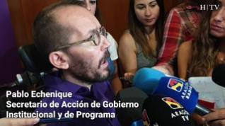 """Pablo Echenique: """"Yo creo que CHA había decidido unirse hace tiempo a la candidatura de Errejón"""""""