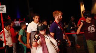 Adolescentes en el Pilar Joven en fiestas