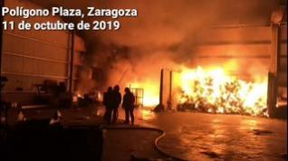 Dos incendios en menos de 4 horas afectan a dos empresas del polígono Plaza