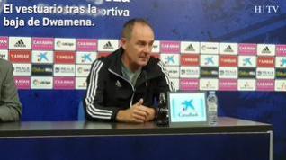 """Víctor Fernández, sobre Dwamena: """"Ha sido un golpe directo al plano anímico del equipo"""""""