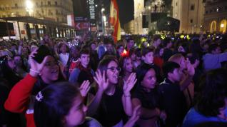 Noche electrónica en la plaza del Pilar