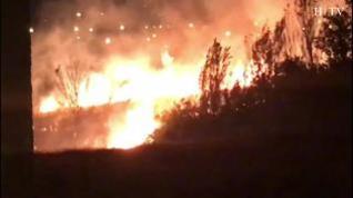 Controlado un fuego en una zona con vegetación en Santa Isabel
