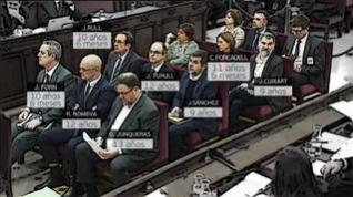 Las condenas a los líderes del 'procés' suman 99 años de cárcel