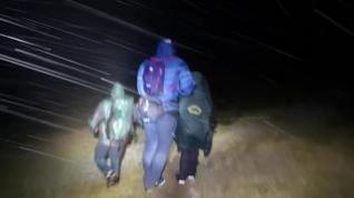 Rescate nocturno de tres personas en collado de Añisclo
