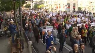Los pensionistas llegan al Congreso para defender el sistema público
