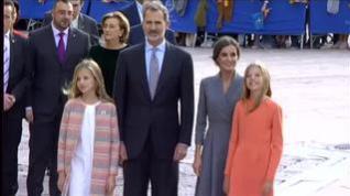 Oviedo da la bienvenida a la Familia Real