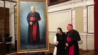 El Alma Mater Museum descubre el retrato del arzobispo Vicente Jiménez en su nuevo Salón del Trono