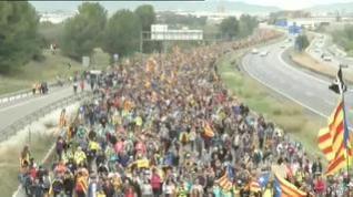 Las columnas separatistas empiezan a acercarse a Barcelona