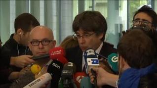 Puigdemont sale en libertad sin fianza tras declarar ante la Fiscalía en Bruselas