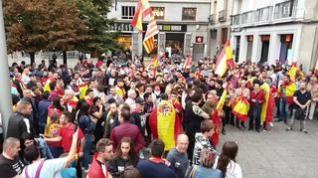 Concentraciones  en la capital aragonesa a favor y en contra de la sentencia del procés