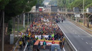 Jornada de huelga y protestas en Cataluña
