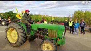 """El campo aragonés se une para protestar por la """"desastrosa situación"""" del sector frutícola"""