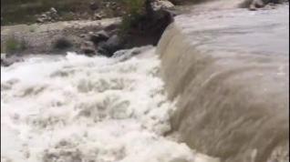 Las lluvias dejan 116 litros en el valle de Pineta y provocan crecidas en los ríos