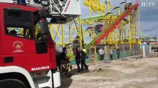 Rescatan a nueve personas atrapadas tras el fallo de una atracción en las ferias