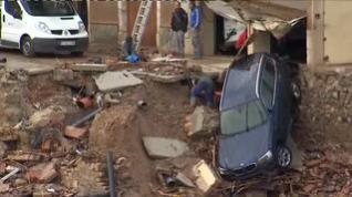 Montblanc destrozado por el temporal que azota Cataluña