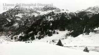 De nuevo la nieve en Llanos del Hospital