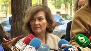 """Carmen Calvo sobre el Valle de los Caídos """"Será un lugar de justicia para los dos bandos"""""""