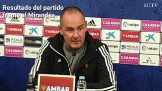 """Víctor Fernández, del Real Zaragoza: """"Hay que buscar soluciones, no culpables"""""""