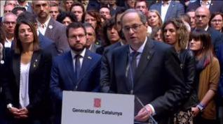 "Quim Torra avisa de que lo volverán a hacer: ""Spain, sit down and talk"""