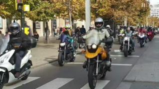 Cientos de motoristas recorren Zaragoza para exigir unas carreteras más seguras
