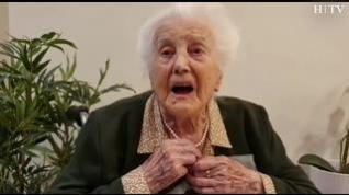 Una vecina de Zaragoza cumple 107 y lo celebra… ¡cantando!