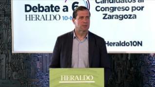 Minuto de oro de Pedro Fernández, candidato del Vox al Congreso por Zaragoza
