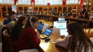 Mil alumnos de Bachillerato participan en un experimento de inteligencia colectiva en Zaragoza