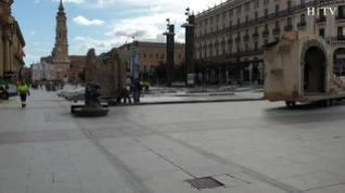 Comienza el montaje del Belén gigante y de las luces de Navidad en Zaragoza