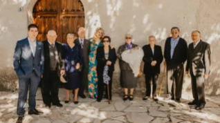Bautizan a un bebé en presencia de sus ocho bisabuelos en un pequeño pueblo de Salamanca