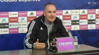 """Víctor Fernández, Real Zaragoza: """"El Almería tiene unas aspiraciones y un esfuerzo económico brutales"""""""