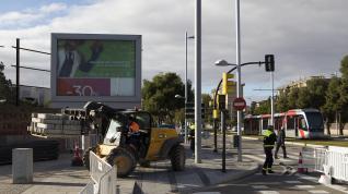 Las obras en el Paseo Infantes de España cortan el tráfico un mes