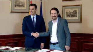 Estos son los diez retos del Gobierno de coalición de Sánchez e Iglesias