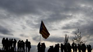 Demonstrators hold an (33089278)