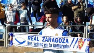 """Javi Puado, jugador del Real Zaragoza: """"El equipo está fuerte y con ganas"""""""