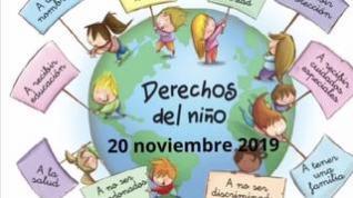 Los niños de Ejea de los Caballeros cantan un rap para celebrar el Día Internacional del Niño