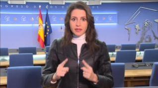 """Arrimadas: """"Este Gobierno depende de los nacionalistas sí o sí, haga lo que haga Ciudadanos"""""""