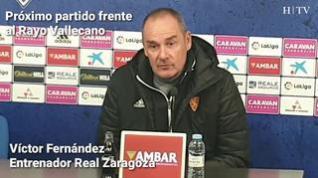 """Víctor Fernández, entrenador del Real Zaragoza: """"El Rayo es un equipo peligroso"""""""