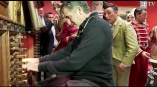 Emilio Aragón presenta 'Circlassica' y se anima a tocar el centenario órgano del Patio de la Infanta